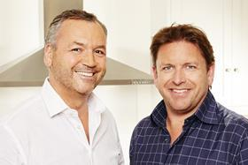 Asda boss Andy Clarke with TV chef James Martin