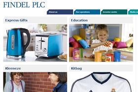 Home shopping group Findel has reported flat half-year sales and profits while the sale of its Kitbag business has been delayed.