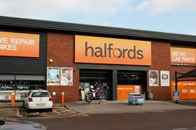 Halfords profits have dropped in the first half