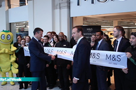 The ribbon is cut as M&S opens its largest store in a station
