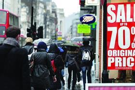 Retail footfall suffered its sharpest decline in just over two years in March as the early Easter and cold weather dented traffic.