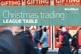 Christmas trading league table