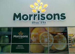 Morrisons has tried out a new logo at its Merrion Centre store