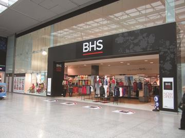 Bhs updated fascia store