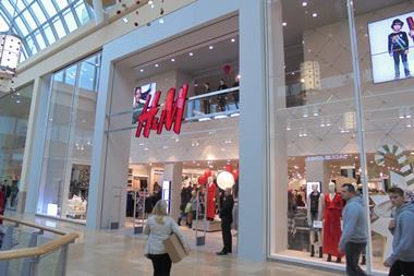 The brand new H&M flagship at the St David's Centre mall in Cardiff