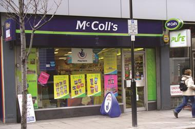 McColl's has reported a 1.9% drop in full-year like-for-like sales as its premium convenience food and wine stores outperformed standard shops.