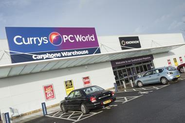 The Currys PC World Carphone Warehouse megastore in Southampton