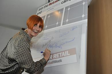 Mary Portas shows support for Retail Week's Fair Rates for Retail campaign