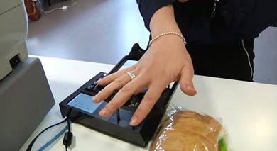 A Swedish student has developed vein biometrics that allows shoppers to pay using their hands