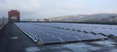 JD Williams has installed solar panels on its distribution centre\'s roof