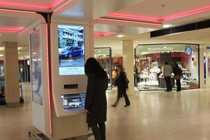 Shopping centres are introducing initiatives such as digital screens