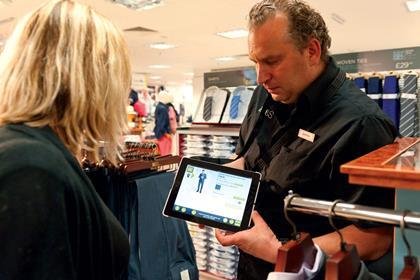 Using iPads at Marks & Spencer