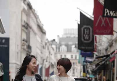 Chinese shoppers on Bond Street