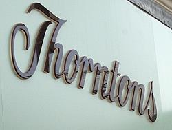 RW thorntons sign