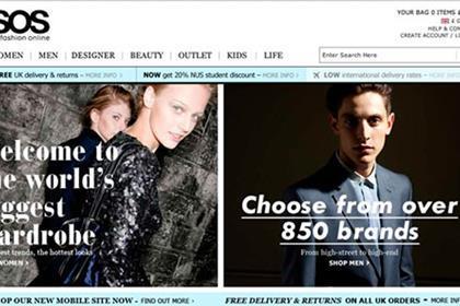 Online fashion retailer Asos
