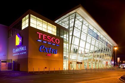 Tesco Clahehall at night